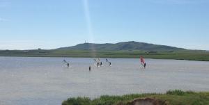Loch Bhasapol, Cornaig (a shallow sandy loch)